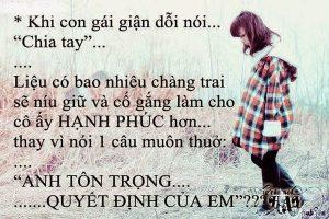Nhung Cau Noi Hay Ve Tinh Yeu Buon Cua Con Gai